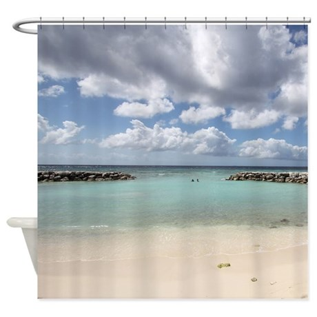 De Palm Island Shower Curtain