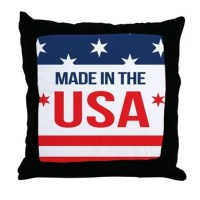 Made In USA Throw Pillow by WickedDesigns4