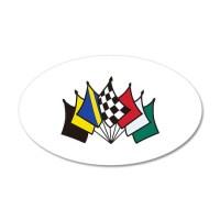 7 Racing Flags Wall Decal by GrandSlamDesigns01