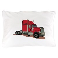Semi Truck Pillow Case by GrandSlamDesigns06