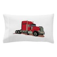 Semi Truck Pillow Case by GrandSlamDesigns06