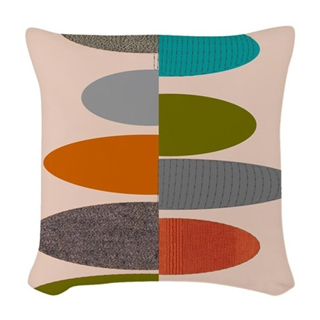 MidCentury Modern Ovals and A Woven Throw Pillow by Admin