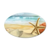 Starfish on Beach Wall Decal by WickedDesigns4