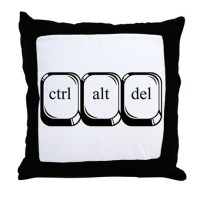 Ctrl Alt Del Throw Pillow by danimalsden