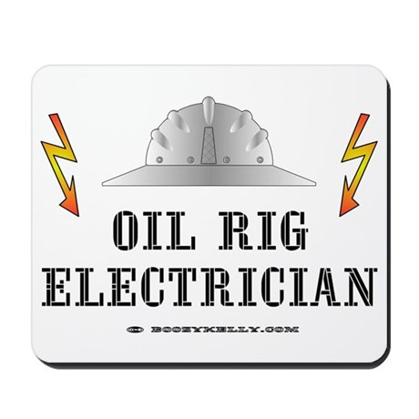 Oil Rig Electrician Mousepad by boozykelly