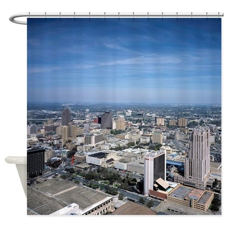 San Antonio Texas Skyline Shower Curtain By ADMINCP17960464