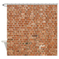 Brick Shower Curtains | Brick Fabric Shower Curtain Liner