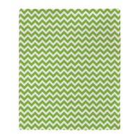 Lime Green Chevron Throw Blanket by 1512blvd