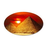 Egyptian Pyramids At Sunset Wall Decal by WickedDesigns4