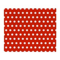 Red and White Polka Dots Throw Blanket by WickedDesigns4