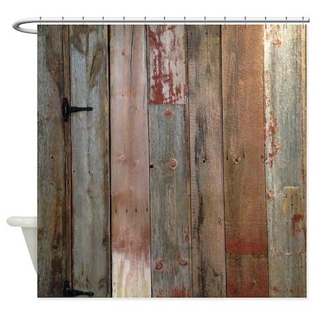 rustic western barn wood Shower Curtain by listingstore62325139