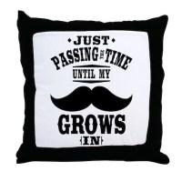 Mustache Throw Pillow by 1512boulevard