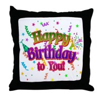 Happy Birthday Pillows, Happy Birthday Throw Pillows ...