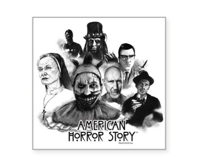 American Horror Story Chara Square Sticker