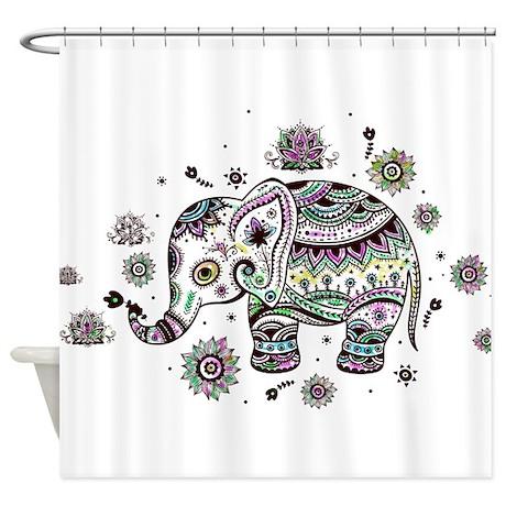 Elephant Shower Curtains  Elephant Fabric Shower Curtain Liner