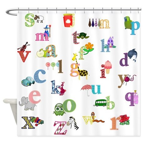Abc Shower Curtains Abc Fabric Shower Curtain Liner
