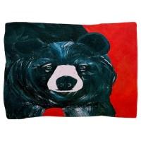 Black bear Pillow Sham by bythebeach