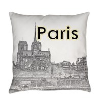 Paris Souvenirs Pillows, Paris Souvenirs Throw Pillows ...