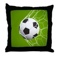 Football Goal Throw Pillow by WickedDesigns4