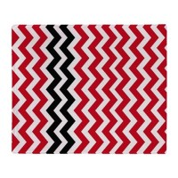 Red and White Chevron With Black Throw Blanket by ...