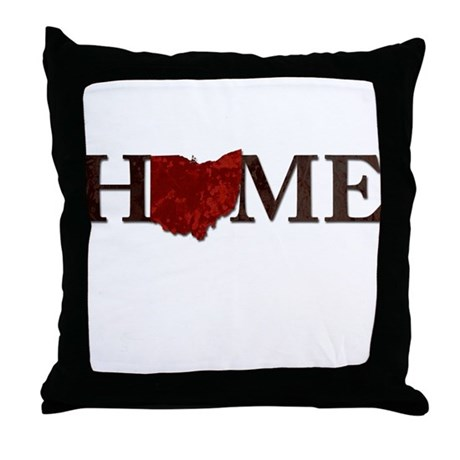 Ohio State Home Throw Pillow by LynsWorld