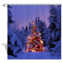 Cafe Kitchen Curtains Exhaust Fans Christmas Tree With Lights Shower Curtain By Wickeddesigns4