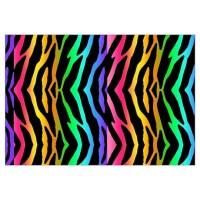 Rainbow Zebra Print Wall Decal