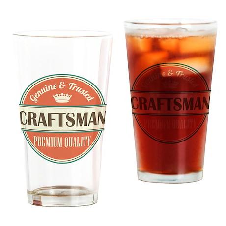 craftsman vintage logo Drinking Glass by ...