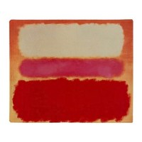 ROTHKO WHITE RED PINK Throw Blanket by ThingsCollectable