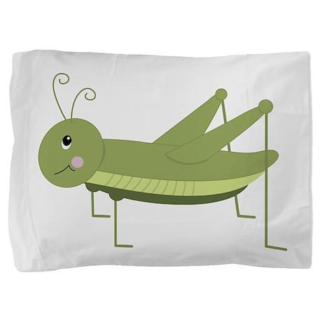 Green Grasshopper Pillow Sham by Embroidery18