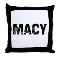 Macy Throw Pillow by namesonstuff