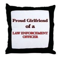 Police Girlfriend Pillows, Police Girlfriend Throw Pillows