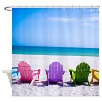 Beach Chair Shower Curtains | Beach Chair Fabric Shower ...