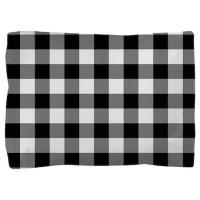 Black White Gingham Pillow Sham by decorativedecor