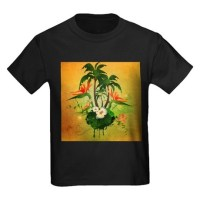 tropical design Kids Dark T