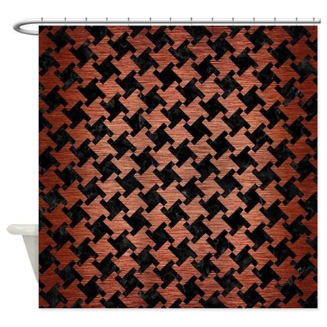 HTH2 BK MARBLE COPPER Shower Curtain by TrendiPatterns