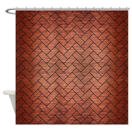 BRK2 BK MARBLE COPPER R Shower Curtain by TrendiPatterns