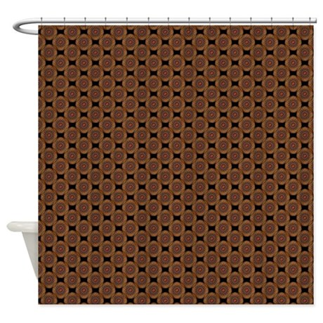 Wire Dome in Copper Shower Curtain by TerrellaWildlifeShelter
