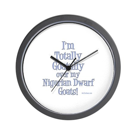 Nigerian Goats Goatally Wall Clock Gt Totally Goatally