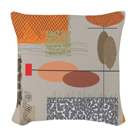 MidCentury Modern Woven Throw Pillow by Admin_CP11157433
