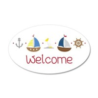 Nautical Welcome Wall Decal by Embroidery32