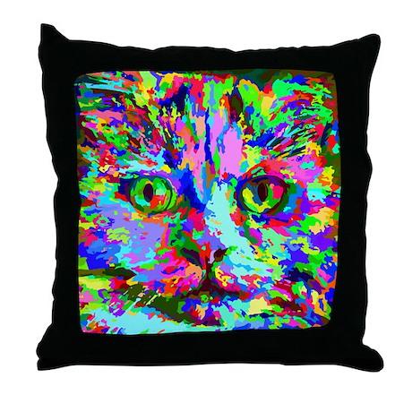 Rainbow Cat Pillows Rainbow Cat Throw Pillows