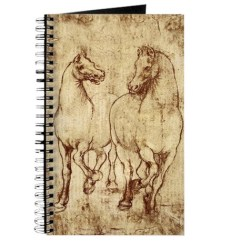 Kitchen Cafe Curtains Counter Chairs Leonardo Da Vinci 2 Horses Journal By Dressageart