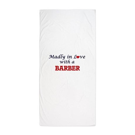 beach chair bathroom accessories wheelchair golf not my decor cafepress madly in love with a barber towel