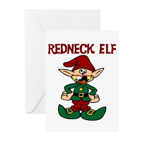 Redneck Elf Greeting Cards Pk Of 10 By Sassybritches