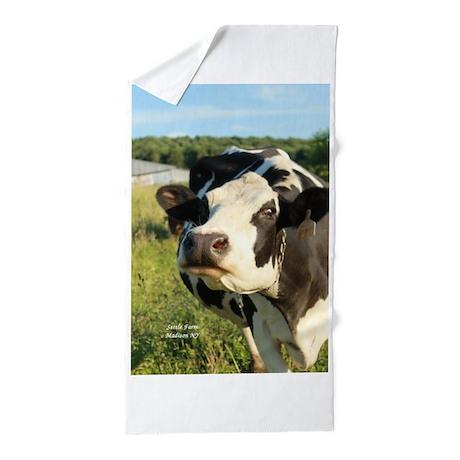 Curious Cow 2 Beach Towel By SettleFarm