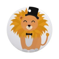 Lion with bow tie Round Ornament by ADMIN_CP111876703