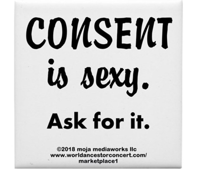 Consent Is Sexy Ask  Tile Coaster