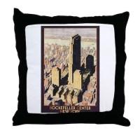 Rockefeller Center NYC Throw Pillow by evolveshop