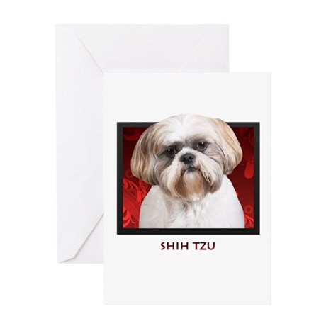 Shih Tzu Greeting Card By Ipooprainbows1